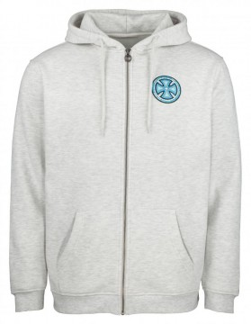 independent stained glass hooded zip athletic heather