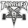 thrasher skategoat patch white